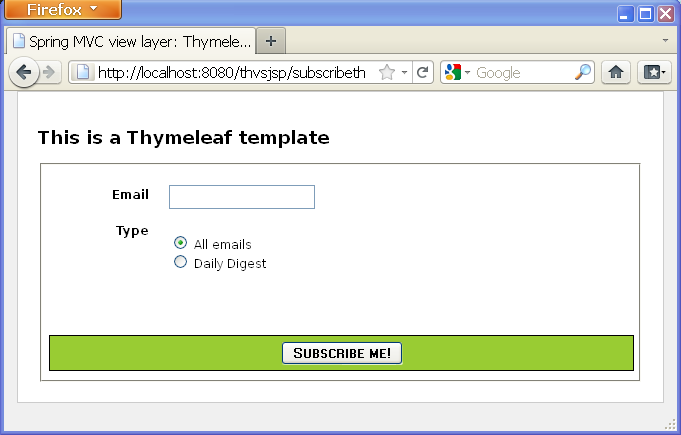 Spring Mvc View Layer Thymeleaf Vs Jsp Thymeleaf